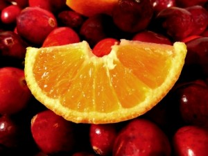 Orange and cranberries