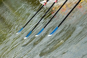 Oars on water