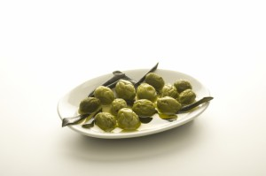 Green olives in olive oil